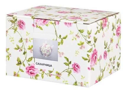 Сахарница с ложкой Elan Gallery Плетистая роза 10,5*9*12 см, 400 мл