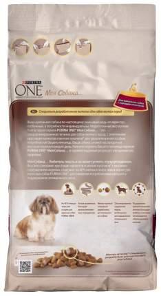 Сухой корм для собак Purina One Мини Здоровый вес, индейка, рис, 1.5кг