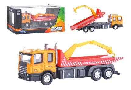 Коллекционная модель Autotime Flatbed crane truck с манипулятором 1:48