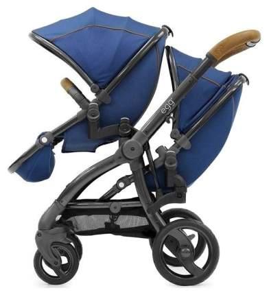 Прогулочный блок для второго ребенка Egg Tandem Seat Petrol Blue & Gun Metal Chassis