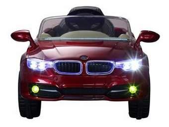 Электромобиль BMW вишневый глянец RIVERTOYS