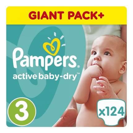 Подгузники одноразовые 5-9 кг, Active Baby-Dry 3 5-9 кг Pampers PA-81637325