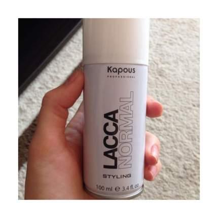 Лак аэрозольный для волос Kapous Professional нормальной фиксации, 100 мл