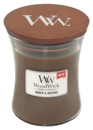 Ароматическая свеча WoodWick Янтарь и ладан 816-455 Коричневый