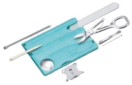 Мультитул Victorinox SwissCard Nailcare 0.7240.T21 82 мм голубой, 13 функций