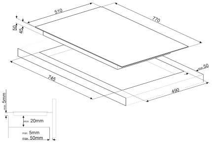 Встраиваемая варочная панель электрическая Smeg SE385EMTB Black
