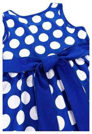 Платье Веселый малыш Дана, р.104, кулирка, Горох, синий