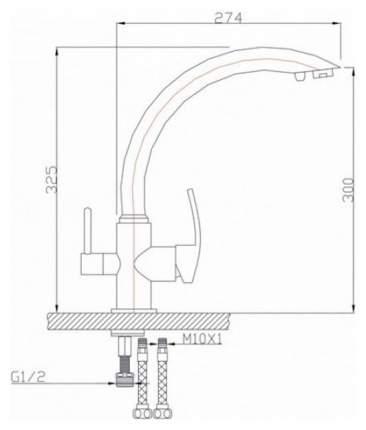 Смеситель для кухонной мойки Granula GR-2615 песок