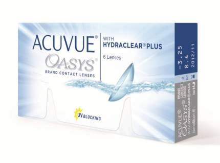 Контактные линзы Acuvue Oasys with Hydraclear Plus 6 линз R 8,8 -2,25