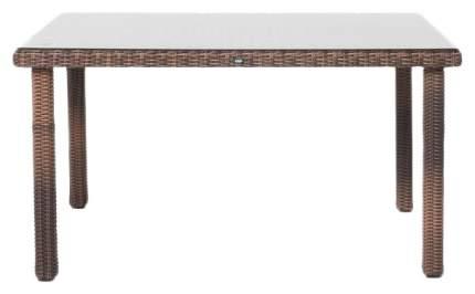 Кухонный стол 4sis 75x140x80 см, коричневый