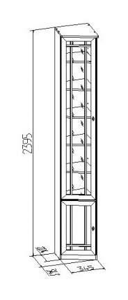 Шкаф книжный Глазов мебель Sherlock 34 GLZ_T0010710 34,5х34,3х239,5, орех шоколадный