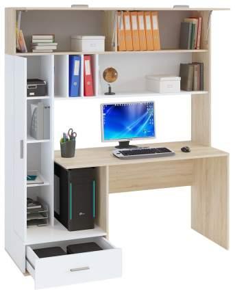 Компьютерный стол СОКОЛ КСТ-17 SK_76046, белый/дуб сонома