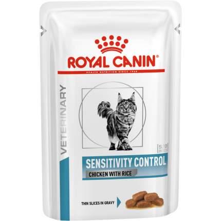 Влажный корм для кошек ROYAL CANIN Vet Diet Sensitivity Control, курица, рис, 12шт, 100г