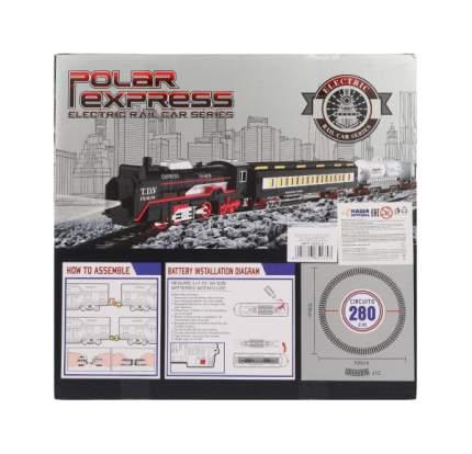 Железная дорога Наша игрушка Грузовой поезд, локомотив, вагон 2 шт., элементы пути 12 шт.