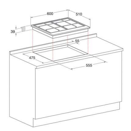 Встраиваемая газовая панель Hotpoint-Ariston PCN 641 /HA White
