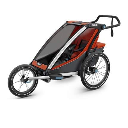 Мультиспортивная коляска Thule Chariot Cross для 1 ребенка, Roarange/Dark Shadow