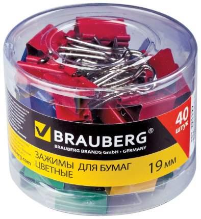 Зажимы для бумаг BRAUBERG 223504 40 шт