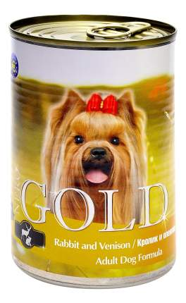 Консервы для собак NERO GOLD Adult Dog Formula, кролик, оленина, 1250г