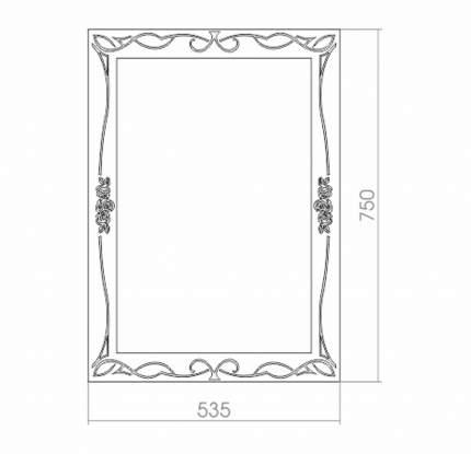 "Зеркало для ванной MIXLINE ""Ампир"" 535*750"
