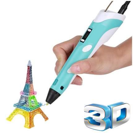 3d ручка 3dpen-2 с lcd дисплеем голубая