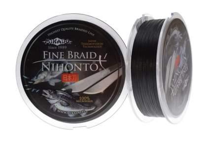 Леска плетеная Mikado Nihonto Fine 0,1 мм, 15 м, 7,7 кг black