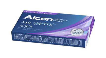 Контактные линзы Air Optix Aqua Multifocal 3 линзы medium -1,75