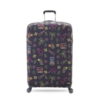 Чехол для чемодана KonAle Фламинго L