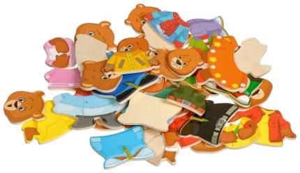 Пазлы-вкладыши Мир деревянных игрушек Три медведя Д164