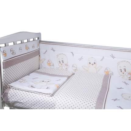 BAMBOLA Комплект в кроватку 6пр. ЦЫПЛЯТА Бязь Бежевый 604