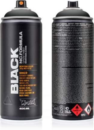 Аэрозольная краска Montana Black черный 400 мл