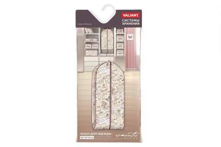 Чехол для одежды Valiant ROMANTIC объемный большой бежевый. коричневый, серый 60х137х10 см