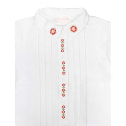 Блузка с вышивкой Bon&Bon 626 белая Р.116