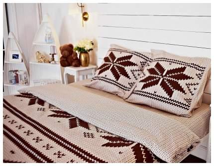 Комплект постельного белья Lino ТЕКСТИЛЬ Северная легенда евро 2 наволочки 70х70 см
