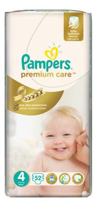 Подгузники Pampers Premium Care 4 (8-14 кг), 52 шт.