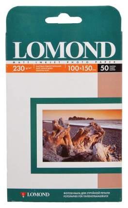 Фотобумага для принтера Lomond A6 230г/кв.м односторонняя матовая 50 л