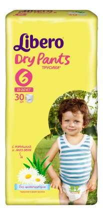 Подгузники-трусики Libero Dry Pants Size 6 (13-20кг), 30 шт.