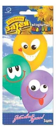 Веселая затея 1111-0465 набор шаров рис улыбка 3 цвета 36 см 3 шт