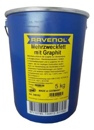 Графитовая смазка RAVENOL Mehrzweckfett m. Graphit (5л) (4014835200265)