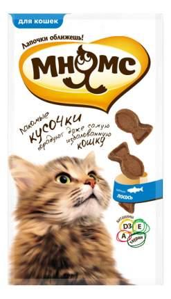 Лакомство для кошек МНЯМС кусочки в форме рыбок со вкусом лосося, 35г