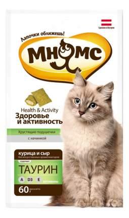 Лакомство для кошек МНЯМС Хрустящие подушечки, курица, сыр, 60г