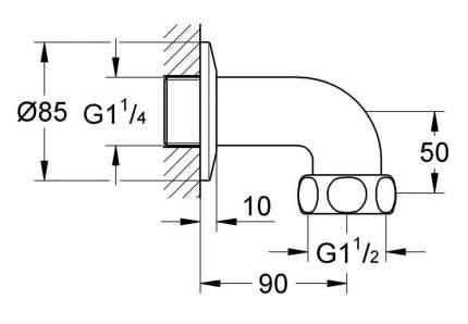 Отводное резьбовое соединение GROHE