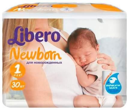 Подгузники для новорожденных Libero Newborn 1 (2-5 кг), 30 шт.