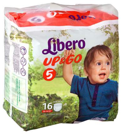 Подгузники Libero Up&Go 5 (10-14 кг), 16 шт.