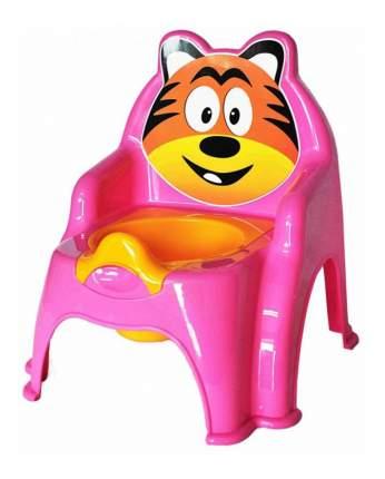 Горшок детский Doloni Тигра розовый