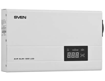 Стабилизатор напряжения SVEN AVR SLIM -500 LCD