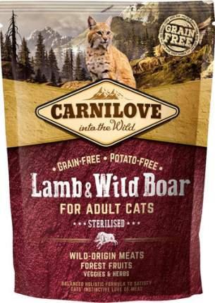 Сухой корм для кошек Carnilove Sterilised, для стерилизованных, ягненок, кабан, 0,4кг