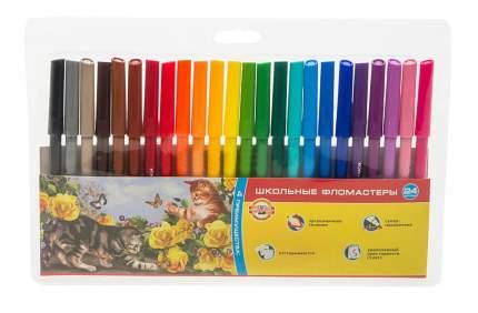 Фломастеры KOH-I-NOOR Домашние животные 24 цвета