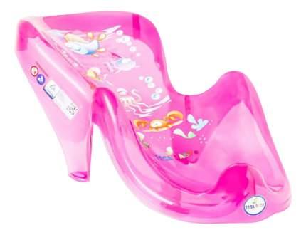 Горка для купания малыша TEGA Aqua с градусником прозрачно-розовый
