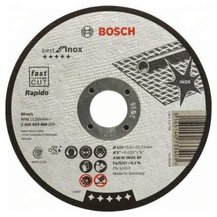 Диск отрезной абразивный Bosch Best по нерж 125x0,8, прям 2608603488
