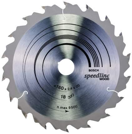 Пильный диск по дереву Bosch STD SWO 160x20-18T 2608640787